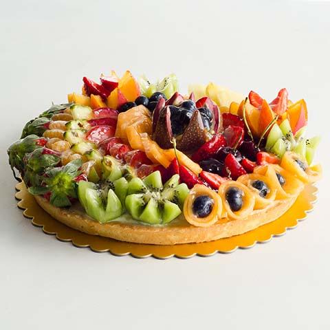 Tropical Fruit Flan